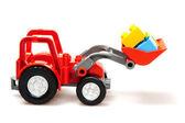 Tractor rojo — Foto de Stock