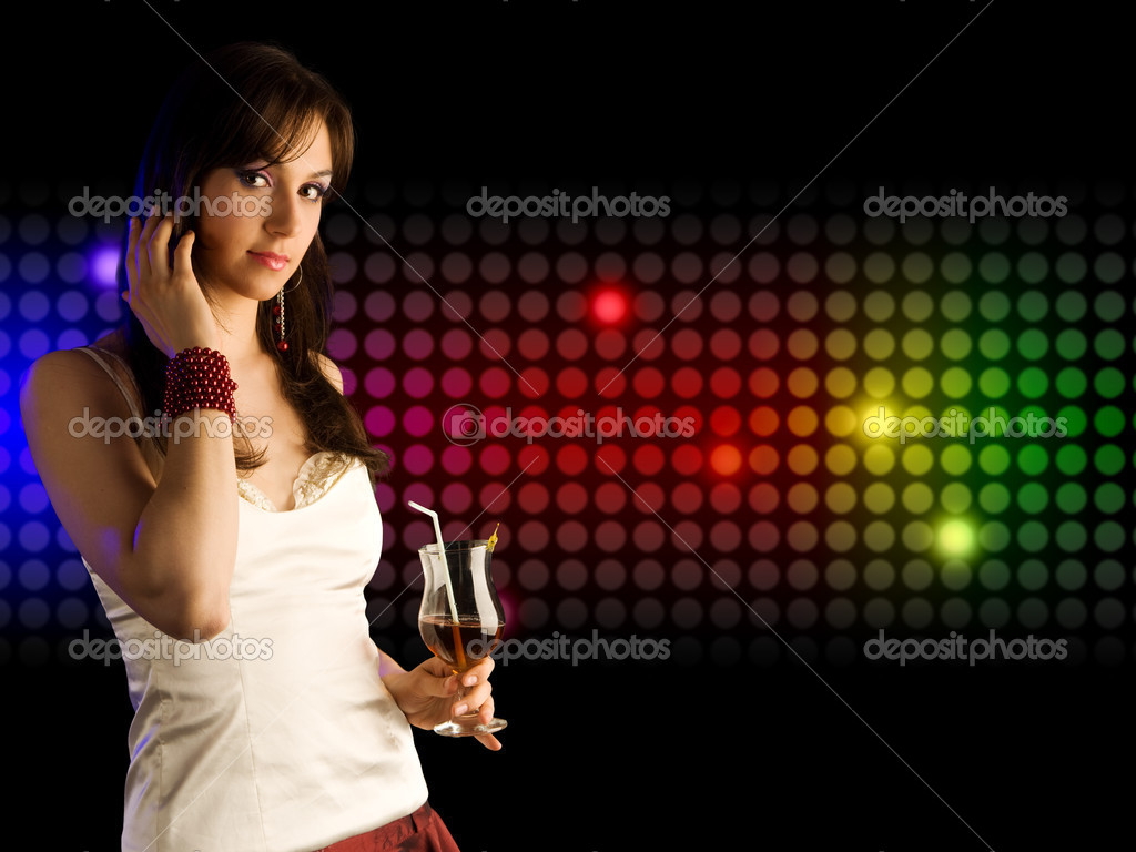 Beautiful girl with cocktail — Stock Photo #3438743