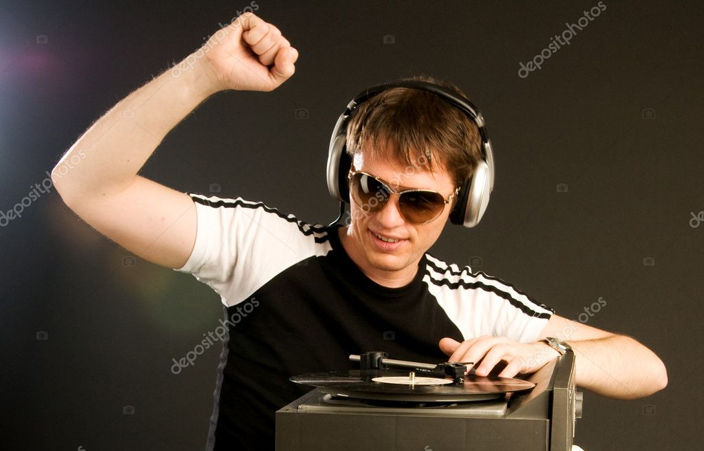 Young man with headphones — Stock Photo #3438896