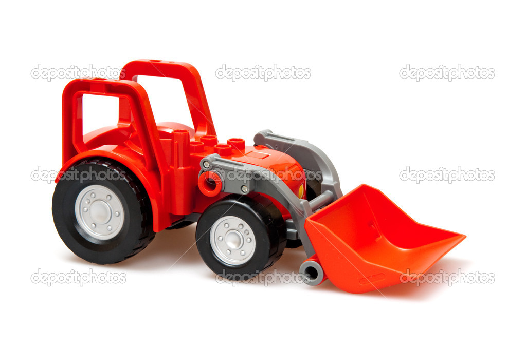 Red tractor  isolated on white — Stock Photo #3471991