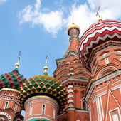St. Basil's Cathedral in Moscow on red square — Stok fotoğraf