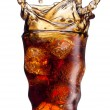 Royalty-Free Stock Photo: Cola splashing