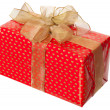 Present box with ribbon isolated — Stock Photo #5115383