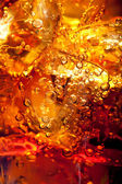Close up view of the ice cubes in cola — Stock Photo
