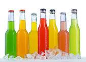 Bouchent la vue des bouteilles — Photo