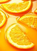 Orange slices background — Stock Photo