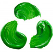 Stockfoto: Green paint tray