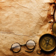 Compass, rope and glasses — Stock Photo #5120223
