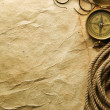 Compass, rope and glasses — Stock Photo #5120520
