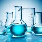 Assorted laboratory glassware equipment — Stock Photo #5120916