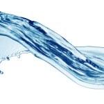 Голубая вода всплеск изолированные — Стоковое фото