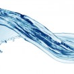 aislado de salpicaduras de agua azul — Foto de Stock