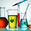 Assorted laboratory glassware equipment — Foto de Stock