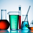 Assorted laboratory glassware equipment — Stock Photo #5121213