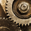 Royalty-Free Stock Photo: View of gears from old mechanism