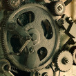 Stock Photo: View of gears from old mechanism