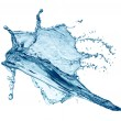 Blue water splash isolated — Stock Photo
