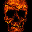 Royalty-Free Stock Photo: Fire skull