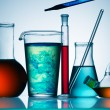 Assorted laboratory glassware equipment — ストック写真