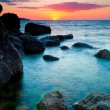 Stock Photo: Beautiful sunset at tropical beach.