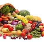 legumes frescos, frutas e outros produtos alimentares — Foto Stock