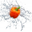 Pepper in spray of water. — Stock Photo #5128587