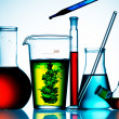 Assorted laboratory glassware equipment — Stockfoto