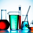 Assorted laboratory glassware equipment — 图库照片