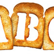 Isolated Letter of Toast alphabet - Stock Photo