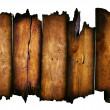 Stock Photo: Charred wood board