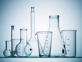 Assorted laboratory glassware equipment — Stock Photo