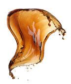 Cola splash geïsoleerd — Stockfoto