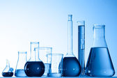 Assorted laboratory glassware equipment — Stock Photo