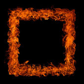 Perfect fire on black background — Stock Photo