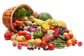 Legumes frescos, frutas e outros produtos alimentares. — Foto Stock