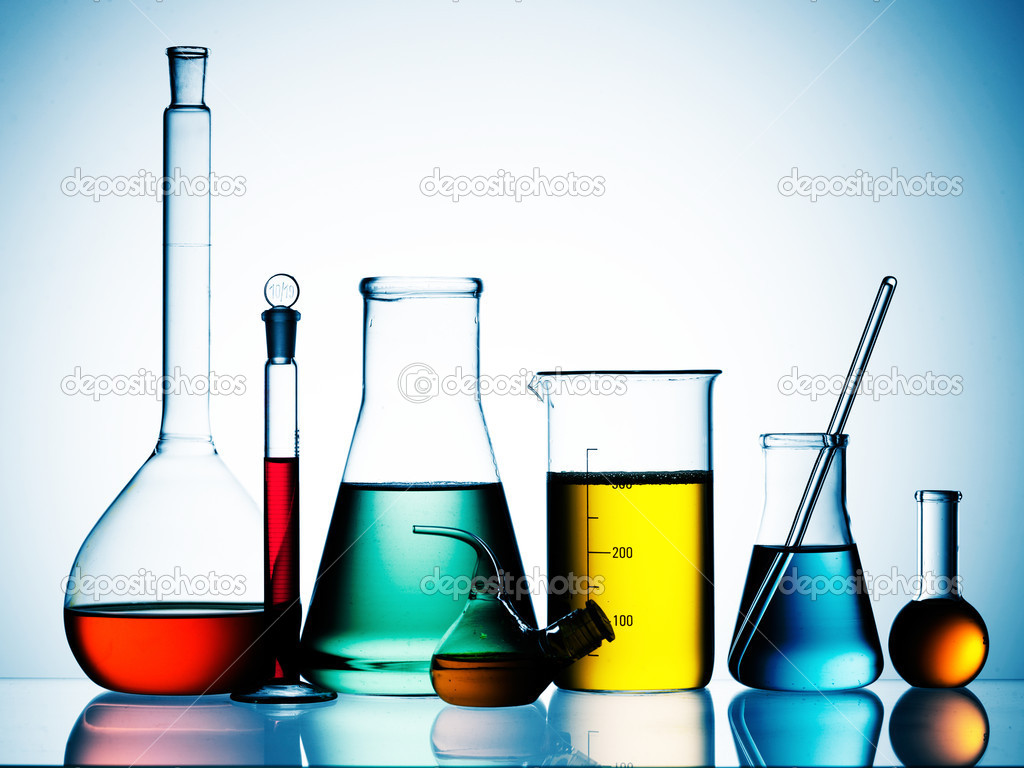Assorted laboratory glassware  Laboratory Equipment Wallpaper