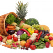 Fresh Vegetables, Fruits and other foodstuffs. — Stock Photo