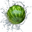 Watermelon in spray of water. — Stock Photo
