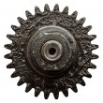 vista di ingranaggi da vecchio meccanismo — Foto Stock #5130407