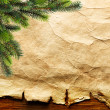 Christmas tree on old paper — Stock Photo