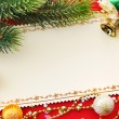 Christmas decoration. vintage background. — Stock fotografie