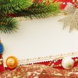 Christmas decoration. vintage background. — Stock Photo