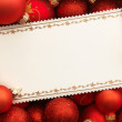 Christmas card with decoration — Stock Photo