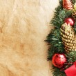 Christmas decoration. vintage background. — Foto Stock