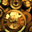 View of gears from old mechanism — Foto Stock