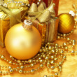 Christmas decoration. vintage background. — Stock Photo #5136866
