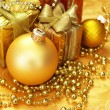 Christmas decoration. vintage background. — Stock Photo #5136877