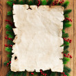 Paper and christmas decorations — Stock Photo