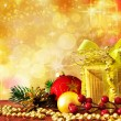 Bright christmas background — Stock Photo