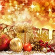 Christmas decoration. vintage background. — Stock Photo #5137215